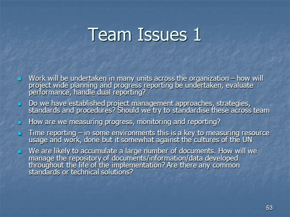 Team Issues 1