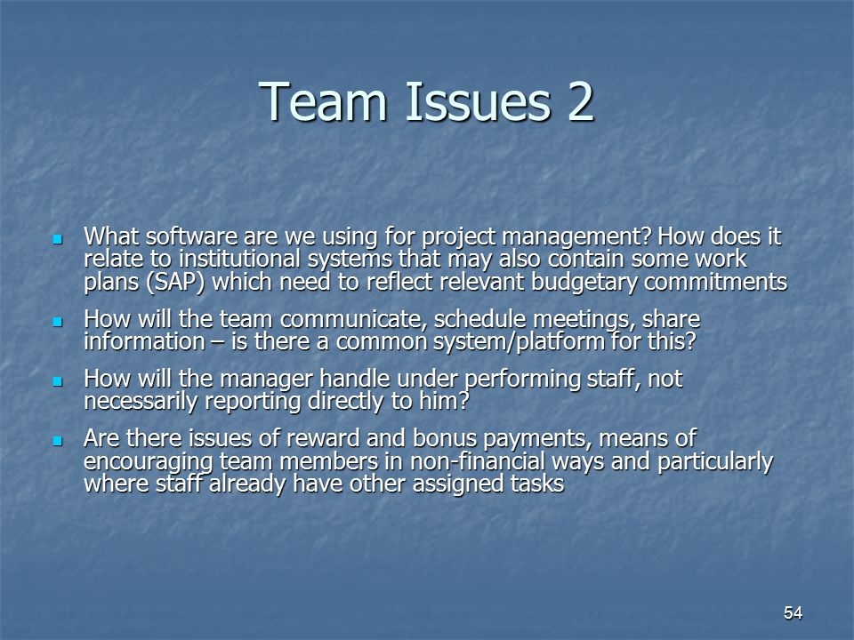 Team Issues 2