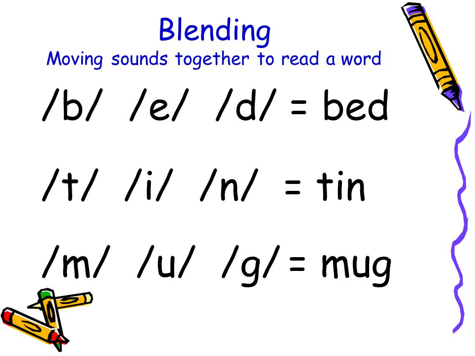 Blending Moving sounds together to read a word