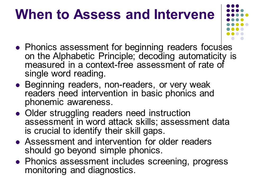 When to Assess and Intervene