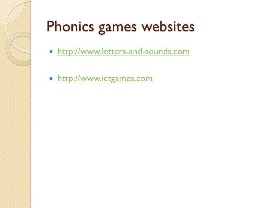 Phonics games websites