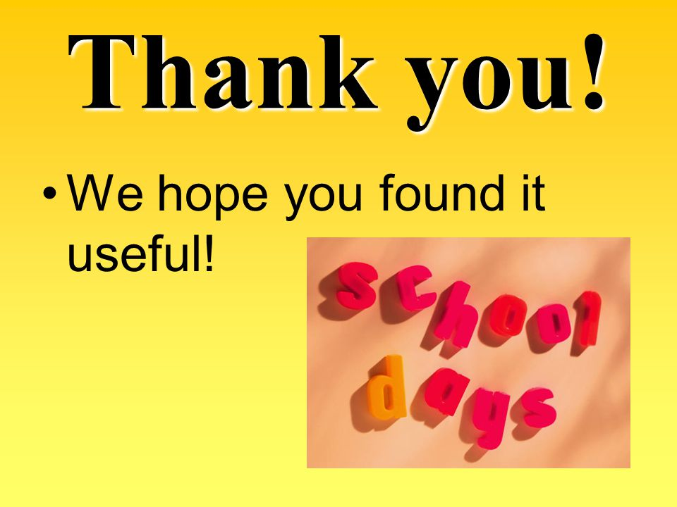 Thank you! We hope you found it useful!