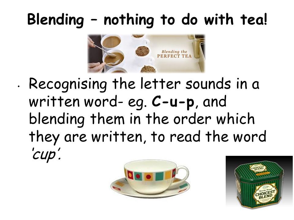 Blending – nothing to do with tea!