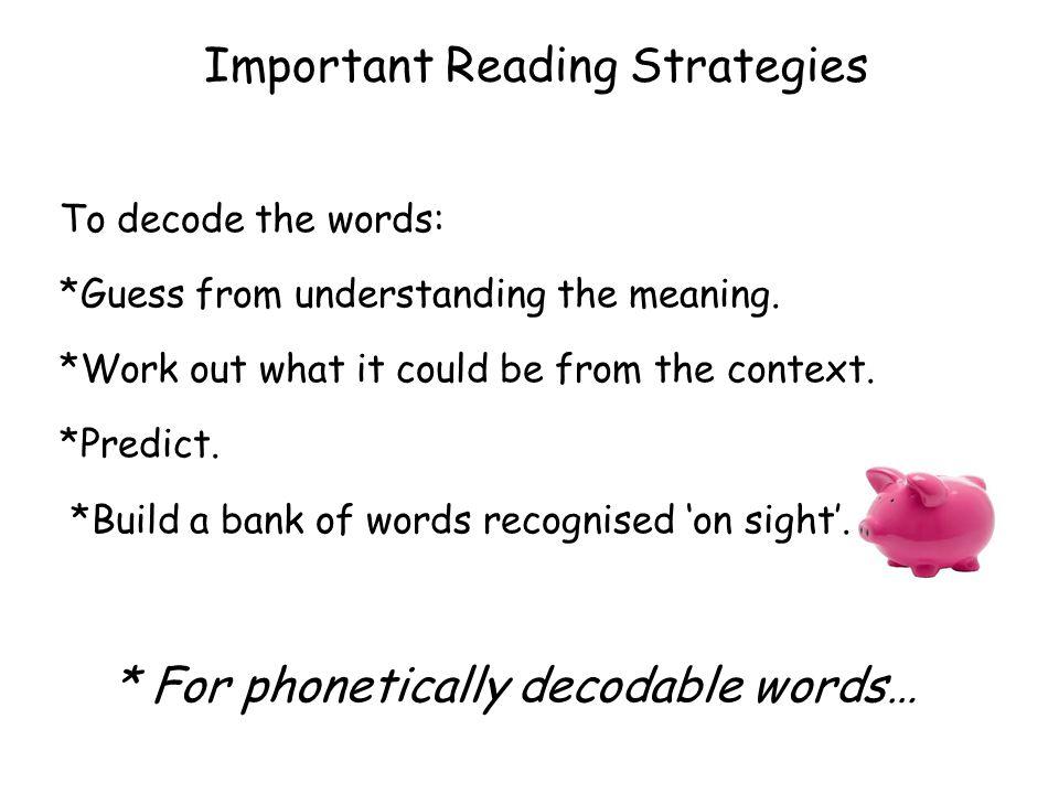 Important Reading Strategies