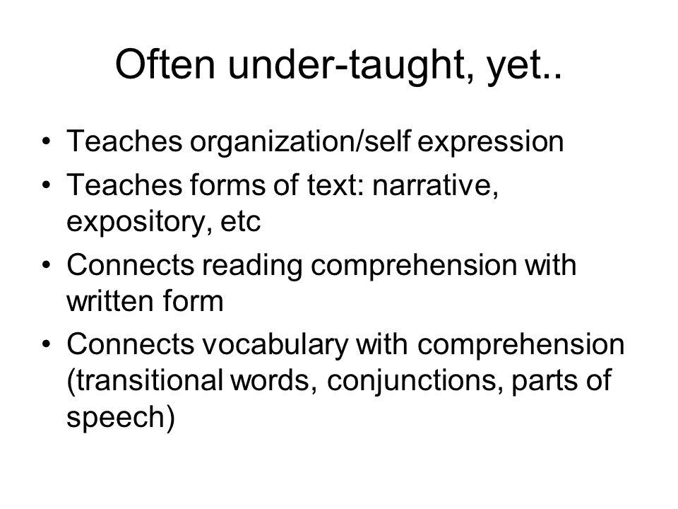 Often under-taught, yet..