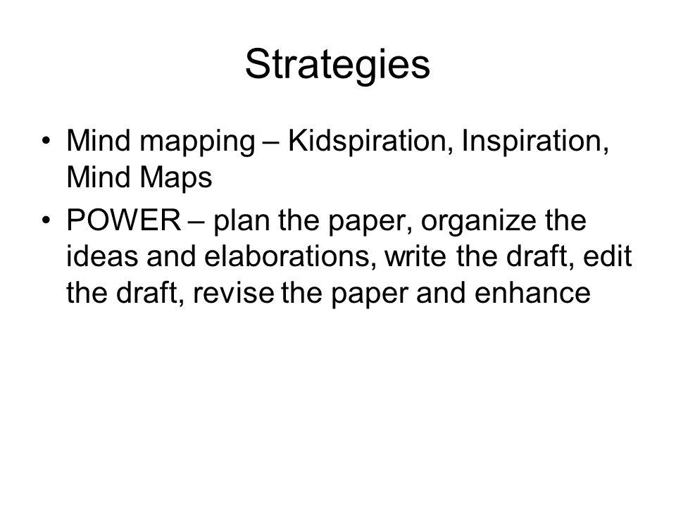 Strategies Mind mapping – Kidspiration, Inspiration, Mind Maps