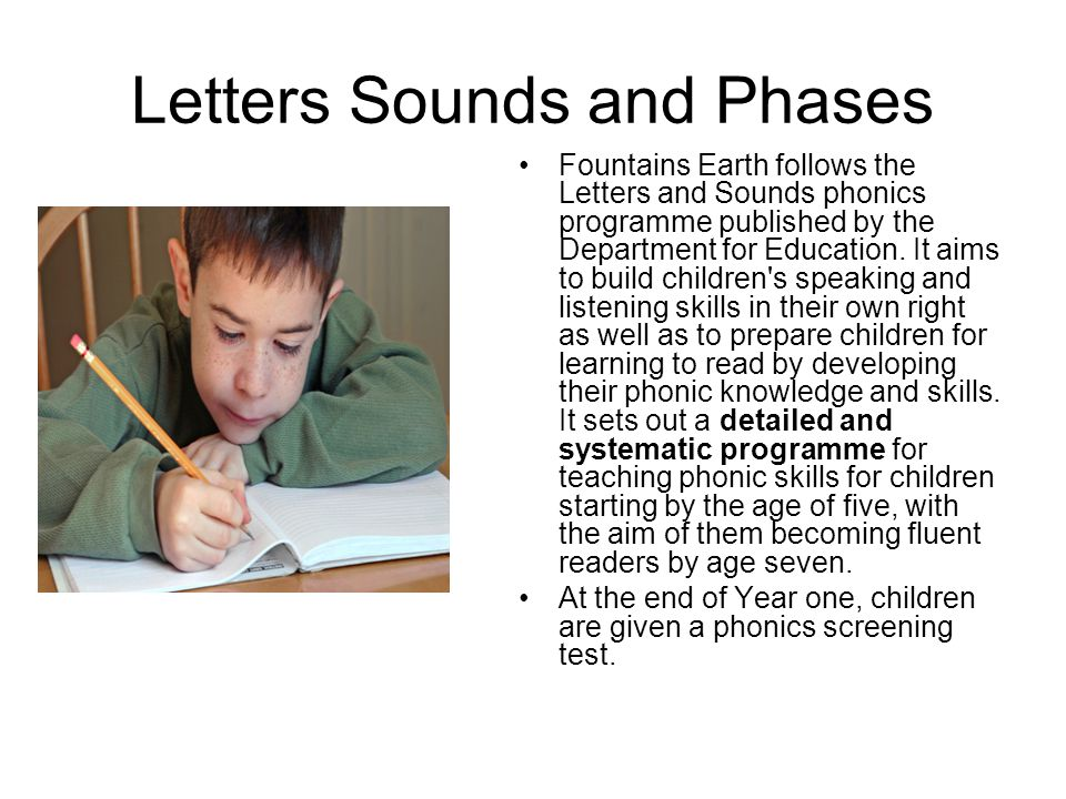 Letters Sounds and Phases