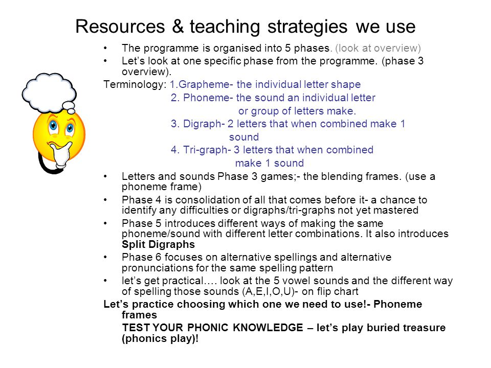 Resources & teaching strategies we use