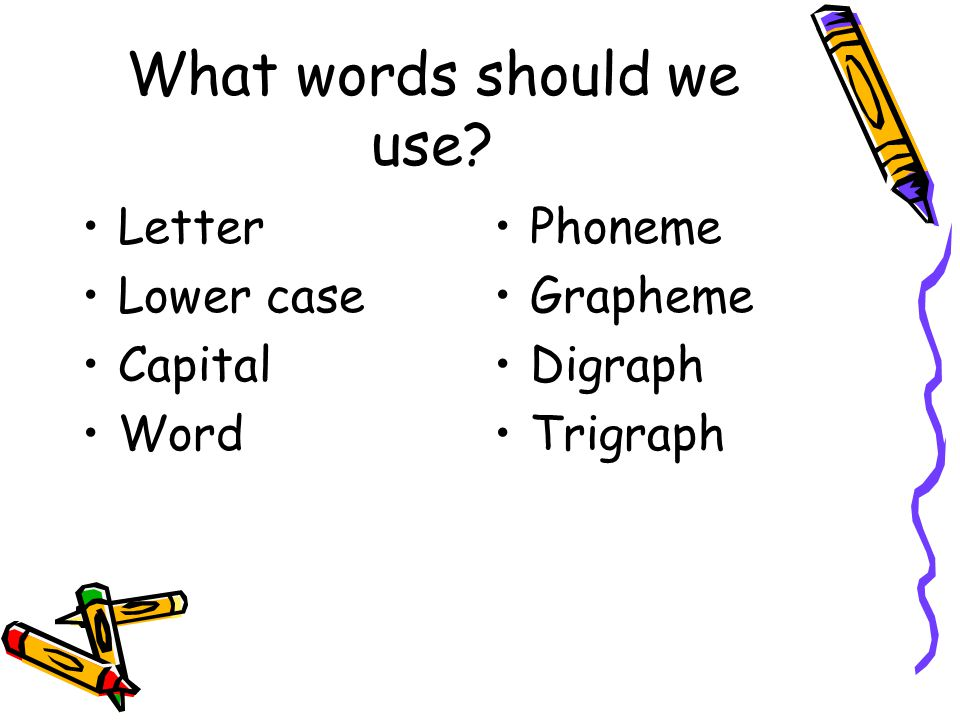What words should we use