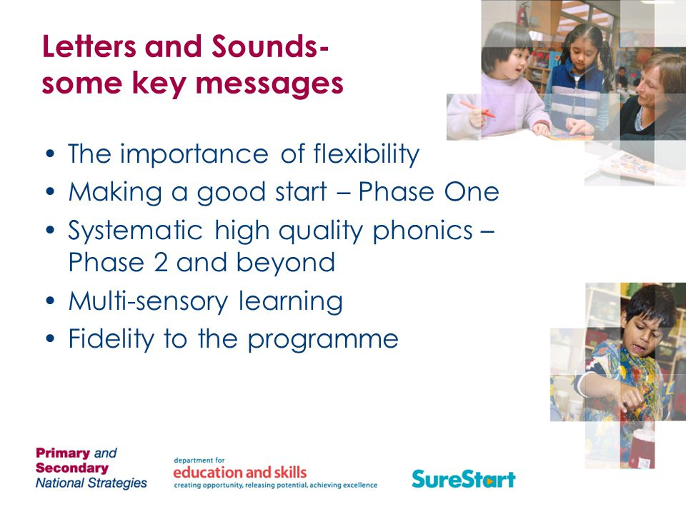 Letters and Sounds- some key messages