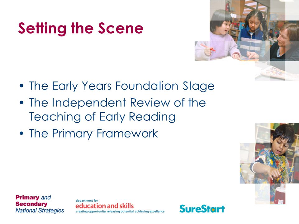 Setting the Scene The Early Years Foundation Stage
