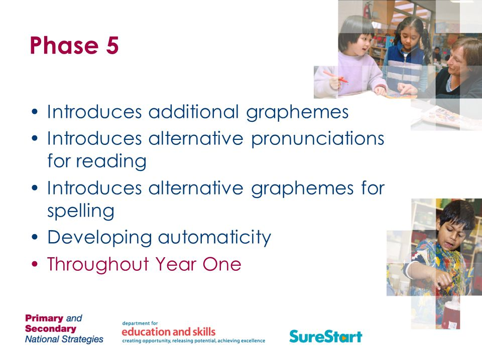 Phase 5 Introduces additional graphemes