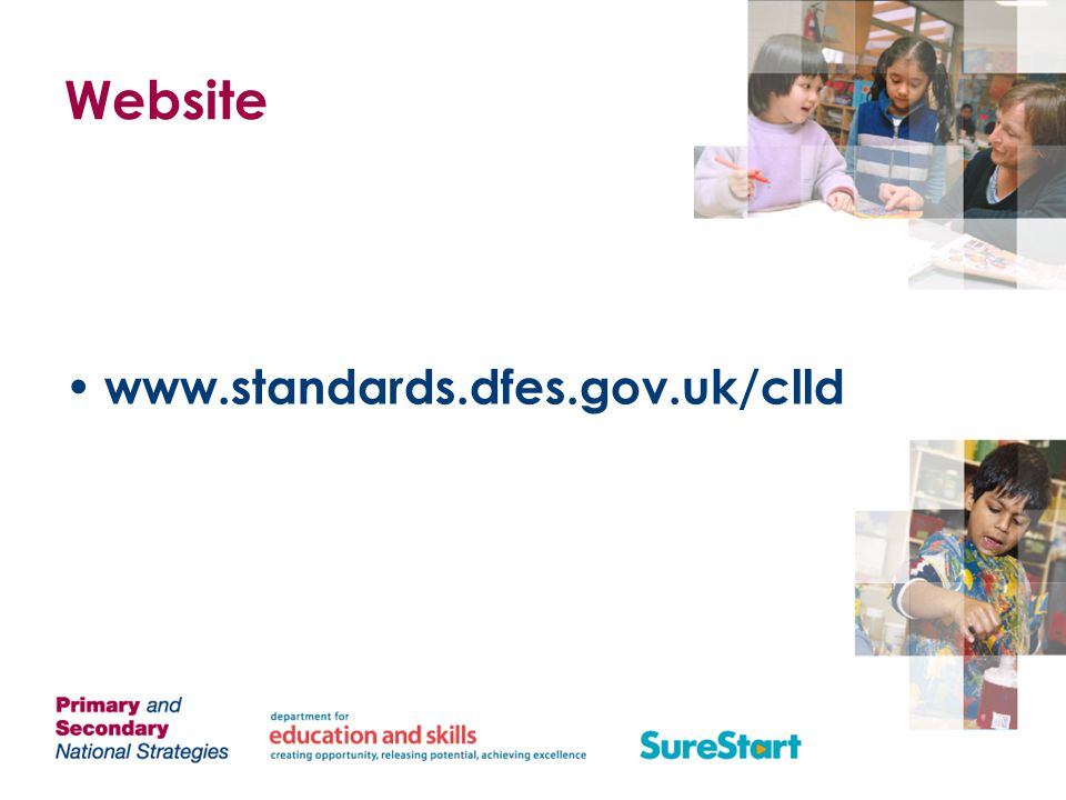 Website www.standards.dfes.gov.uk/clld