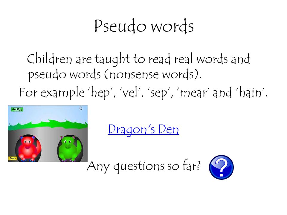 Pseudo words