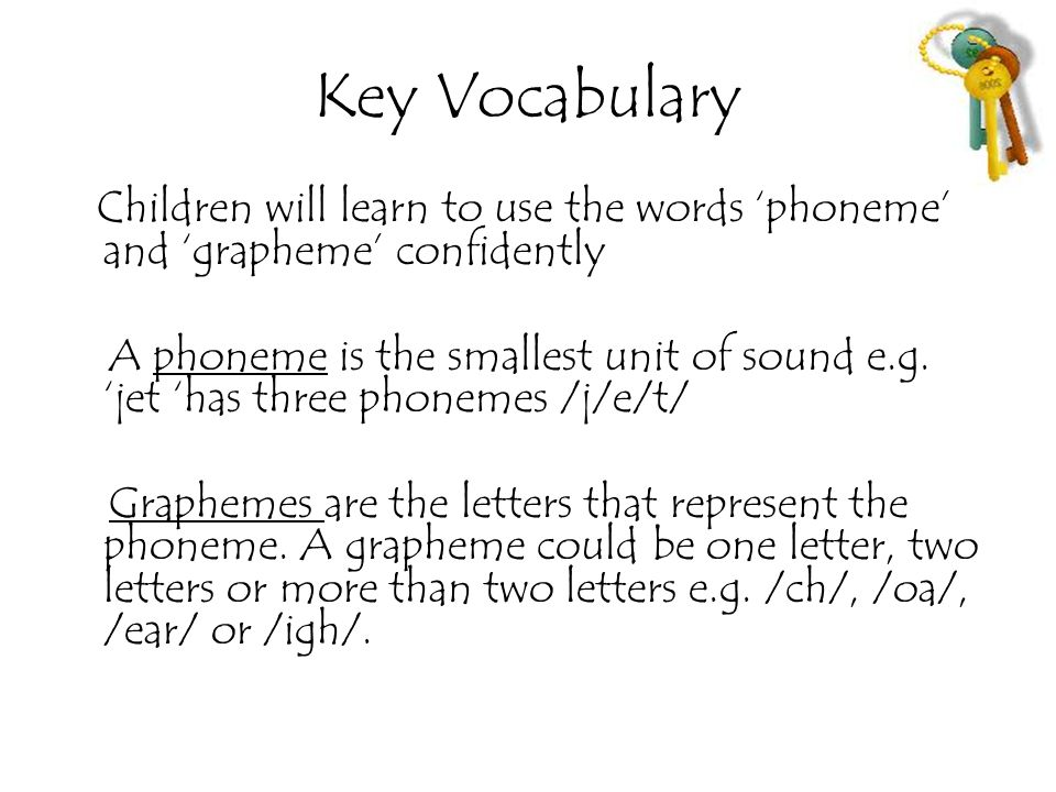 Key Vocabulary