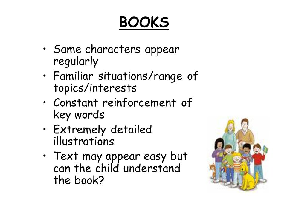 BOOKS Same characters appear regularly