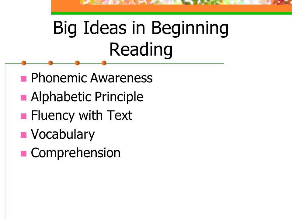 Big Ideas in Beginning Reading