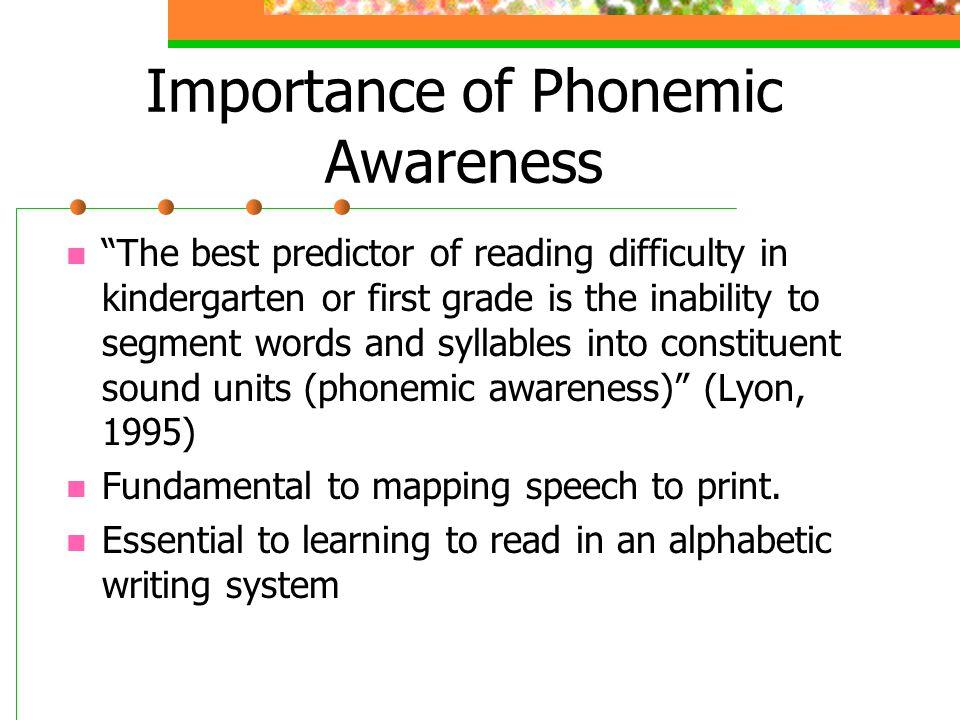 Importance of Phonemic Awareness