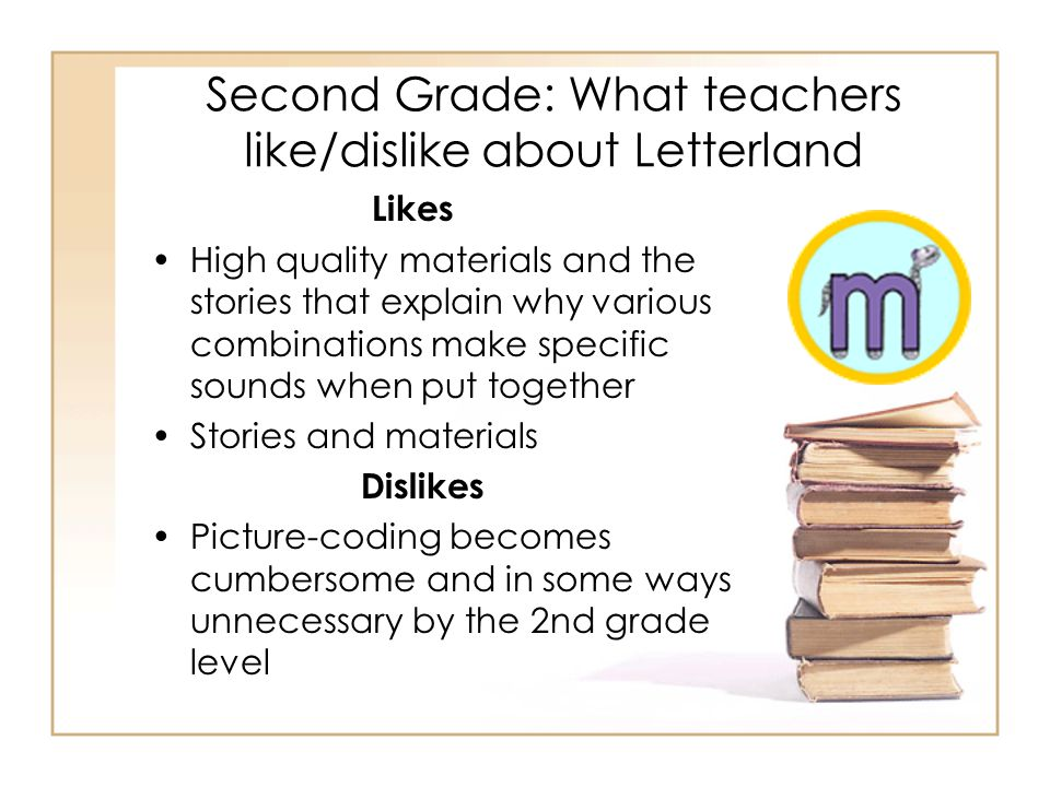 Second Grade: What teachers like/dislike about Letterland