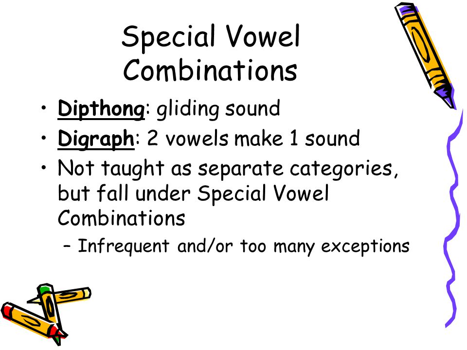 Special Vowel Combinations