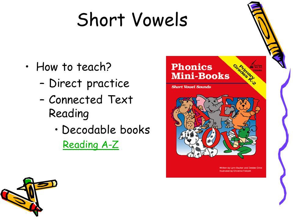 Short Vowels How to teach Direct practice Connected Text Reading