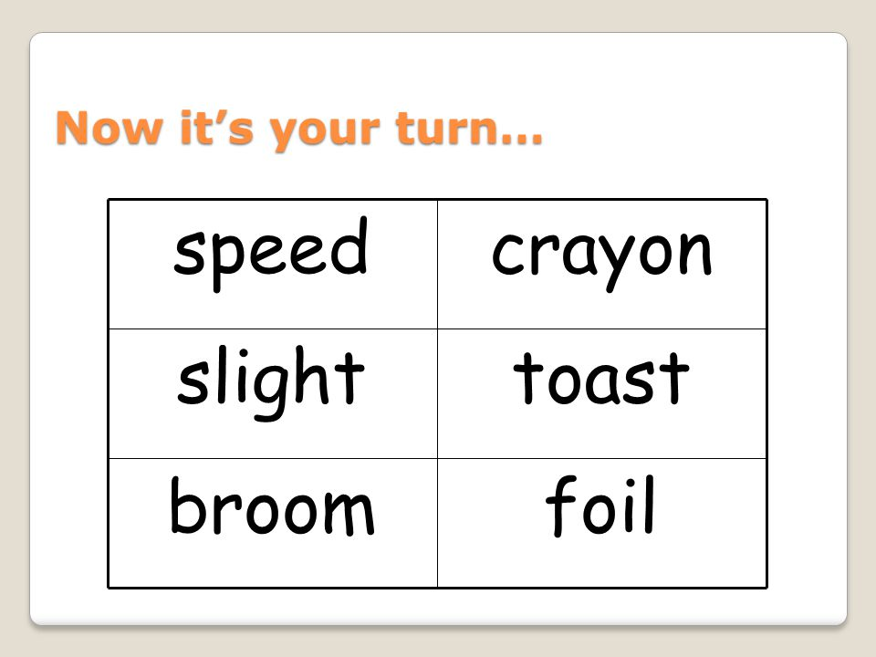 01/05/08 Now it's your turn… foil broom toast slight crayon speed 18