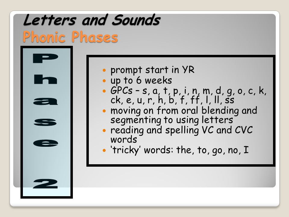 Letters and Sounds Phonic Phases