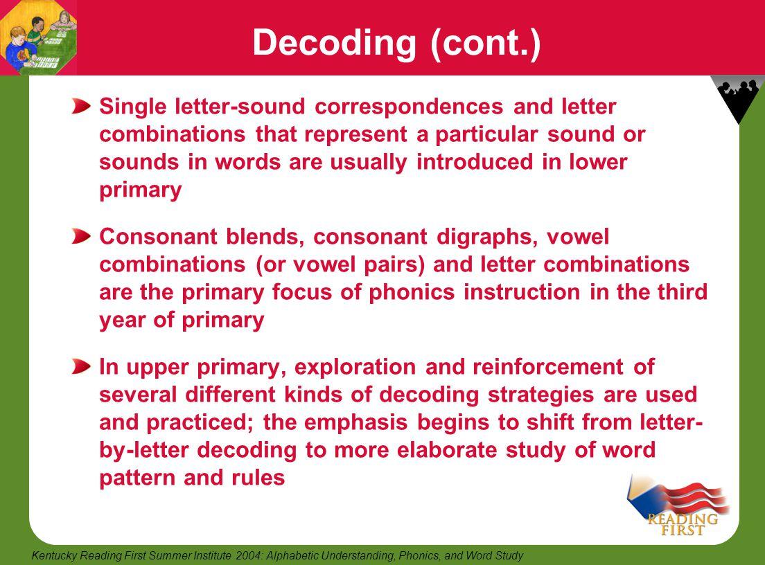 Decoding (cont.)