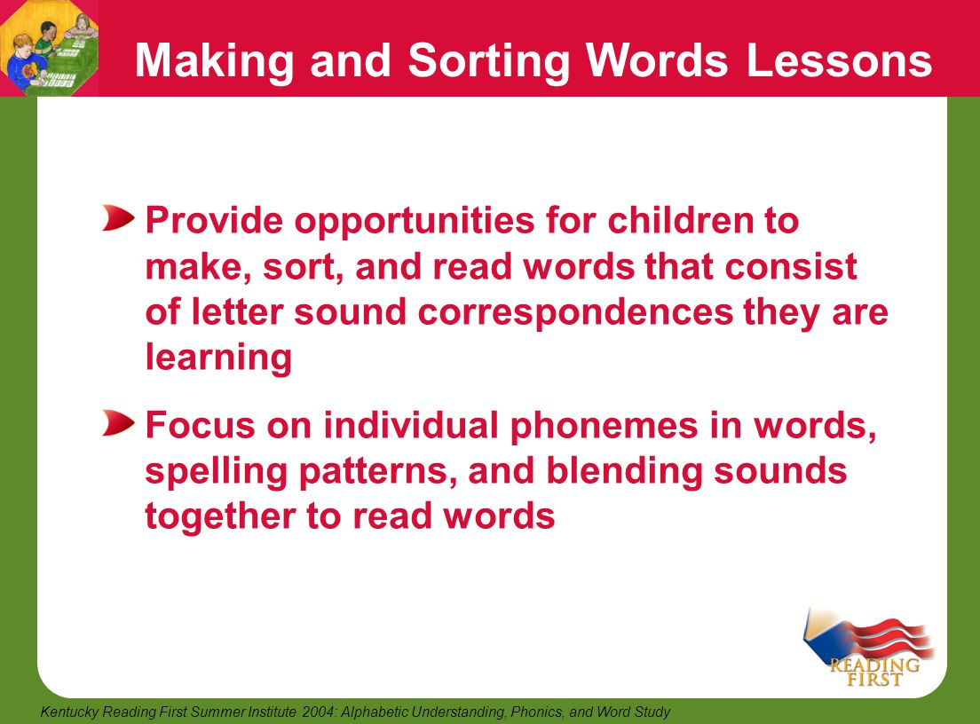 Making and Sorting Words Lessons