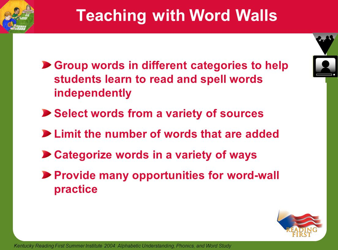 Teaching with Word Walls