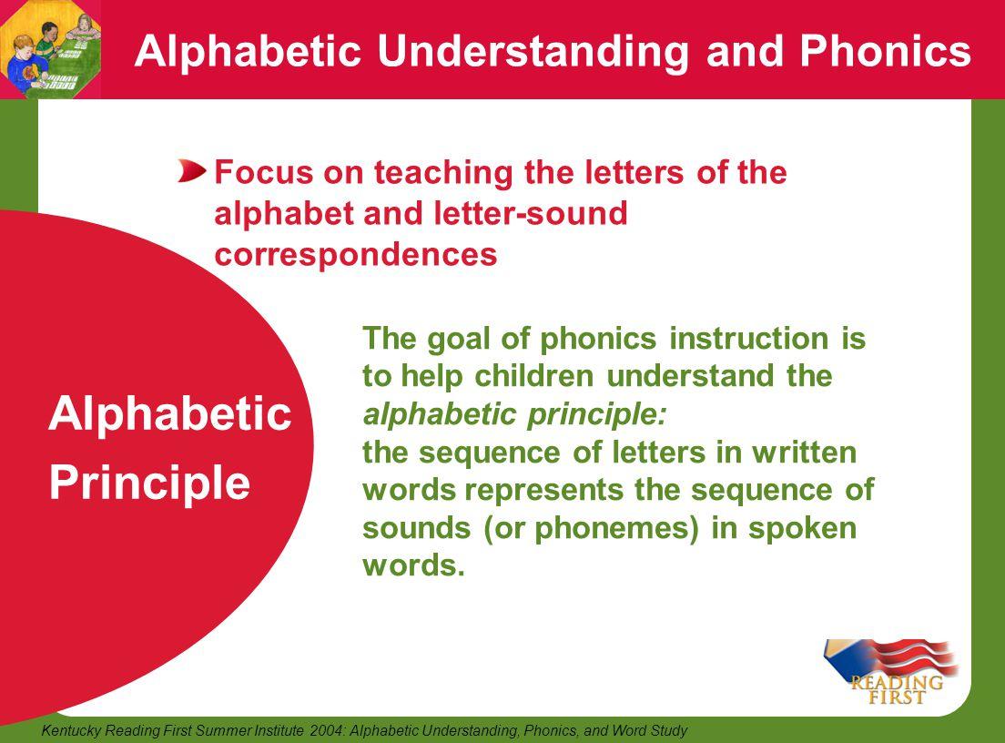 Alphabetic Understanding and Phonics