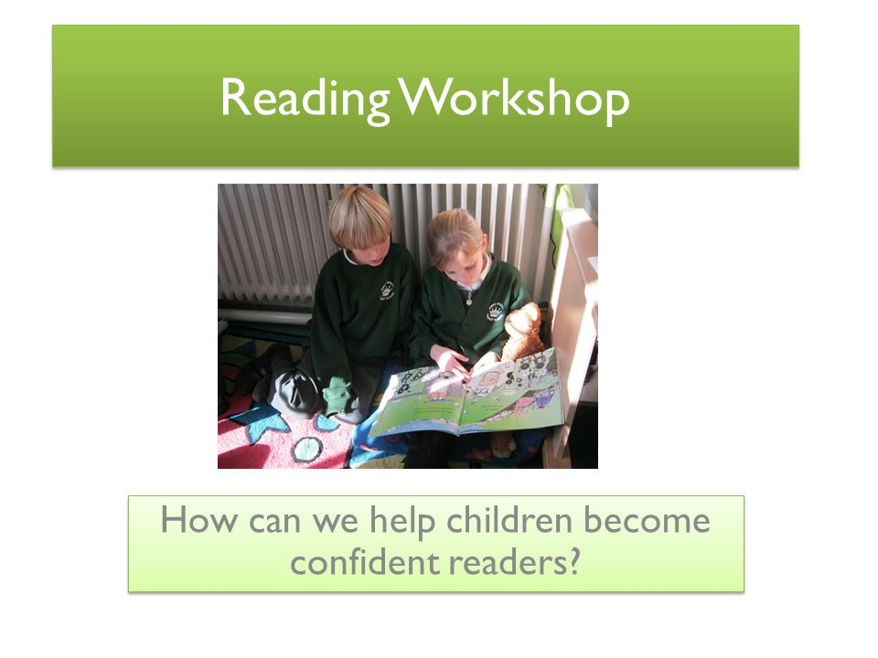 How can we help children become confident readers