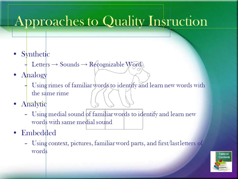 Approaches to Quality Insruction