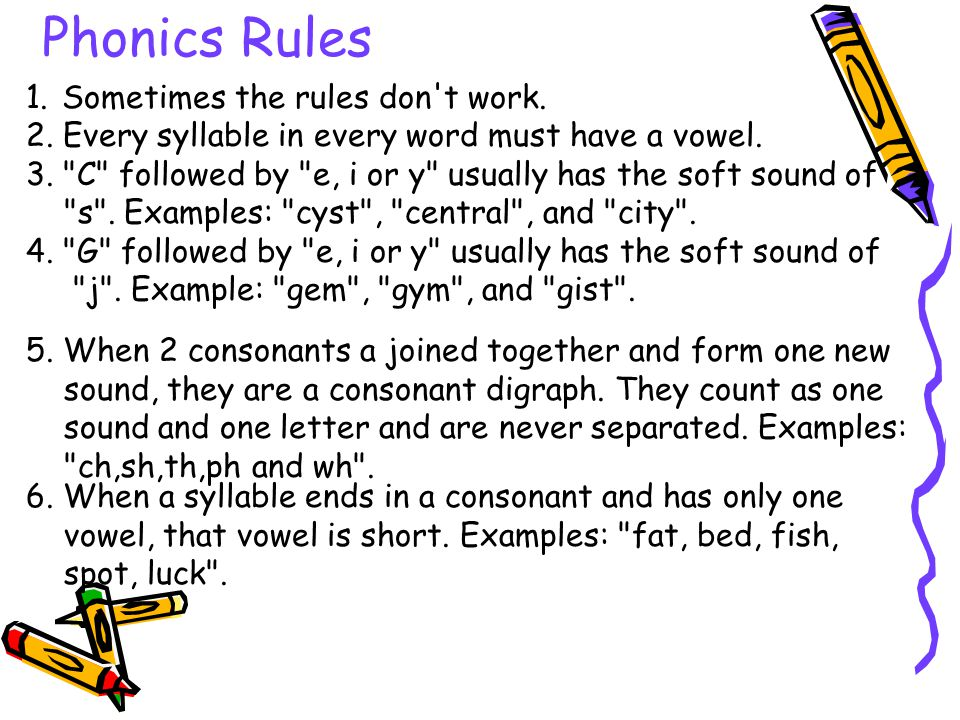 Phonics Rules 1. Sometimes the rules don t work.