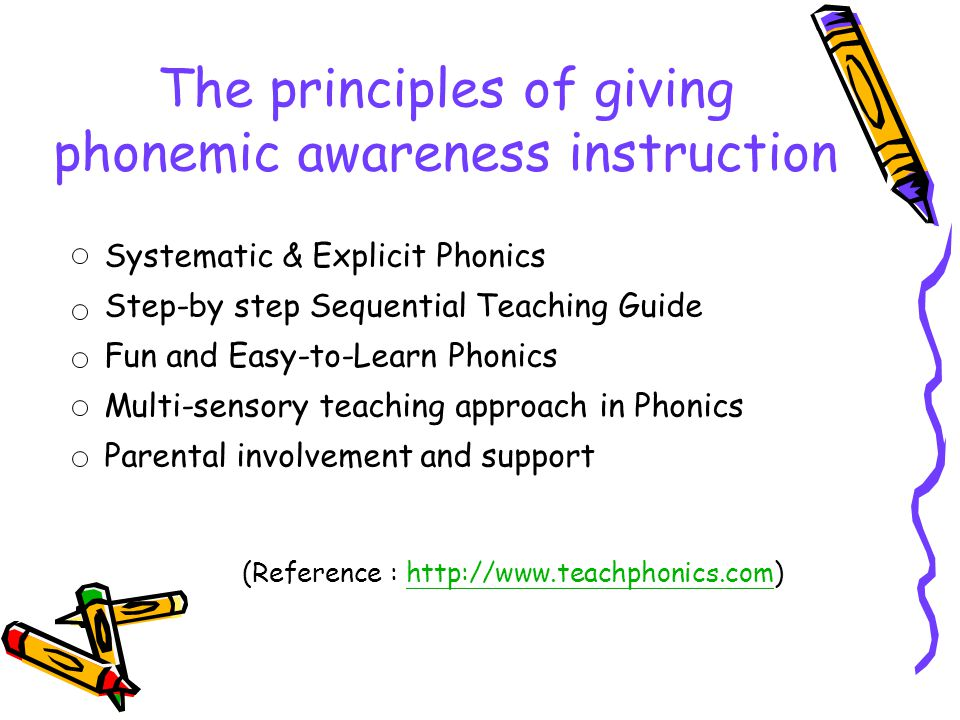 The principles of giving phonemic awareness instruction
