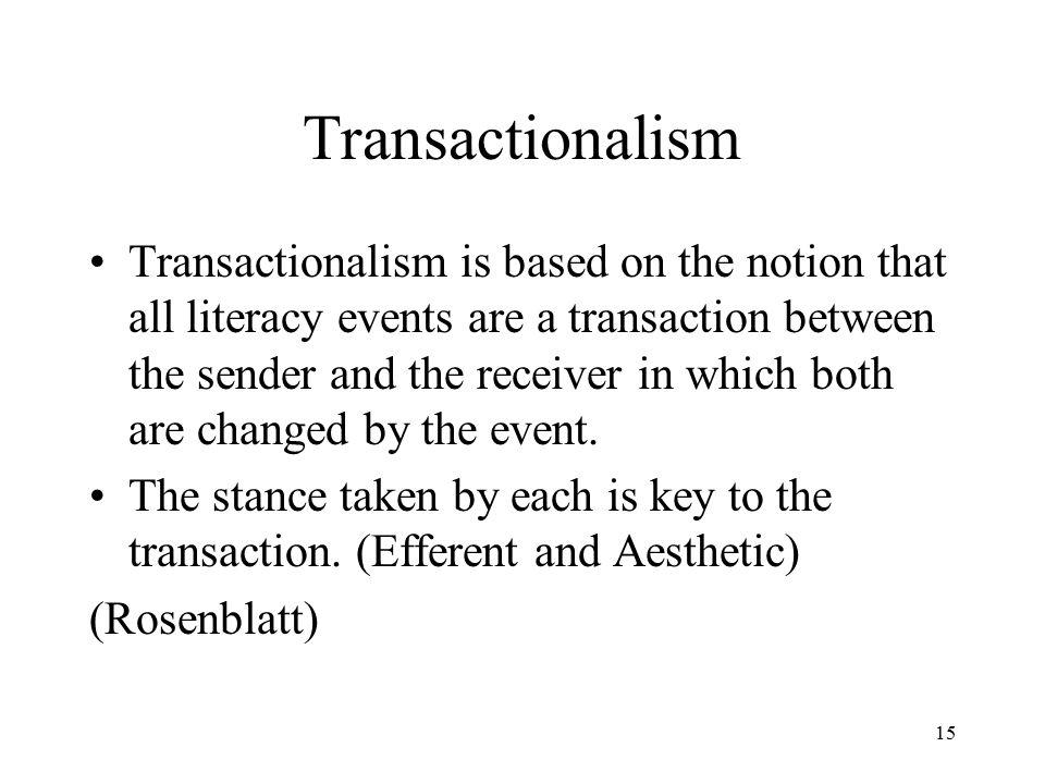Transactionalism