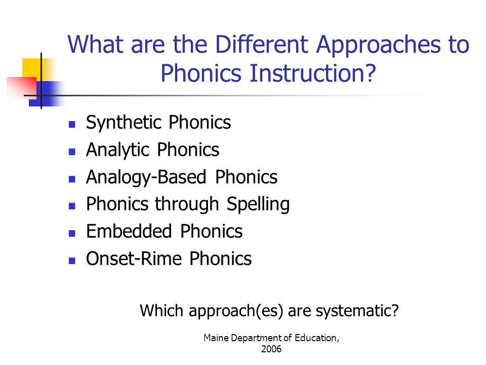 What are the Different Approaches to Phonics Instruction