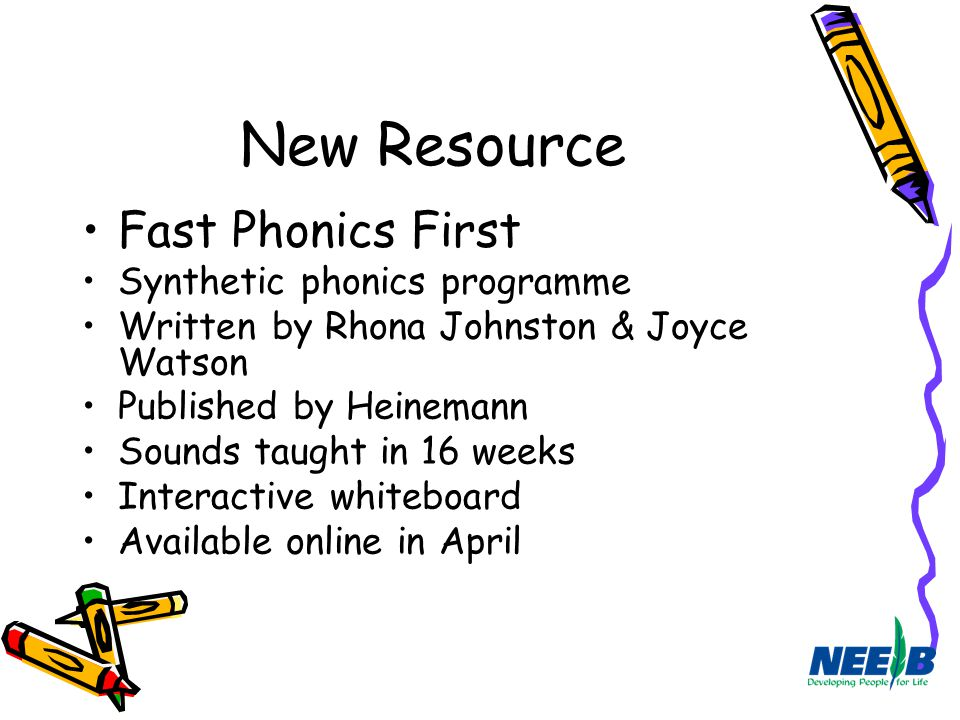 New Resource Fast Phonics First Synthetic phonics programme