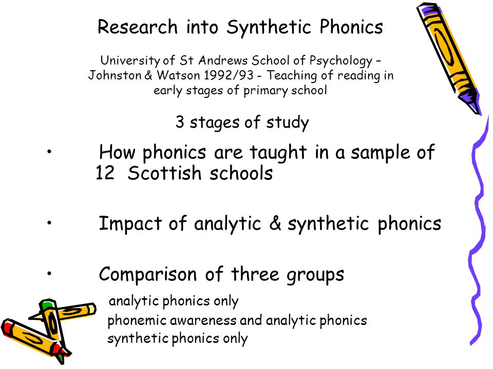 How phonics are taught in a sample of 12 Scottish schools