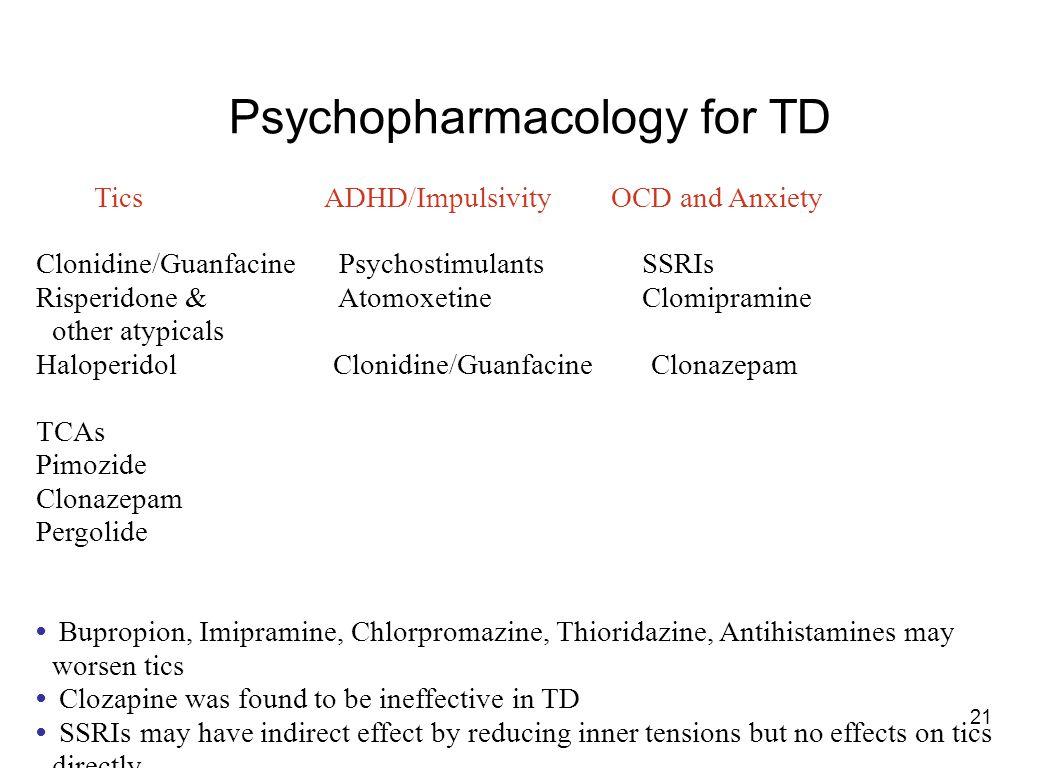 Psychopharmacology for TD