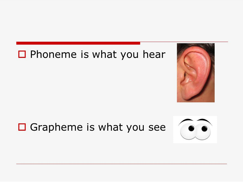 Phoneme is what you hear