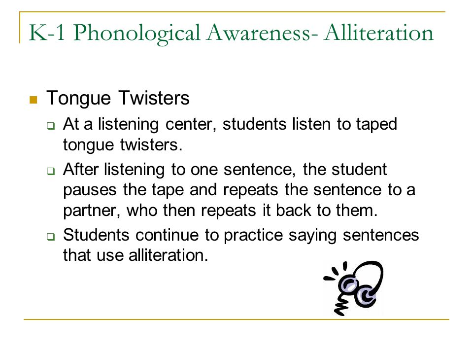 K-1 Phonological Awareness- Alliteration