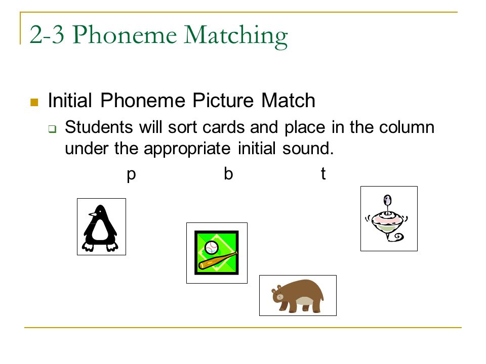 2-3 Phoneme Matching Initial Phoneme Picture Match