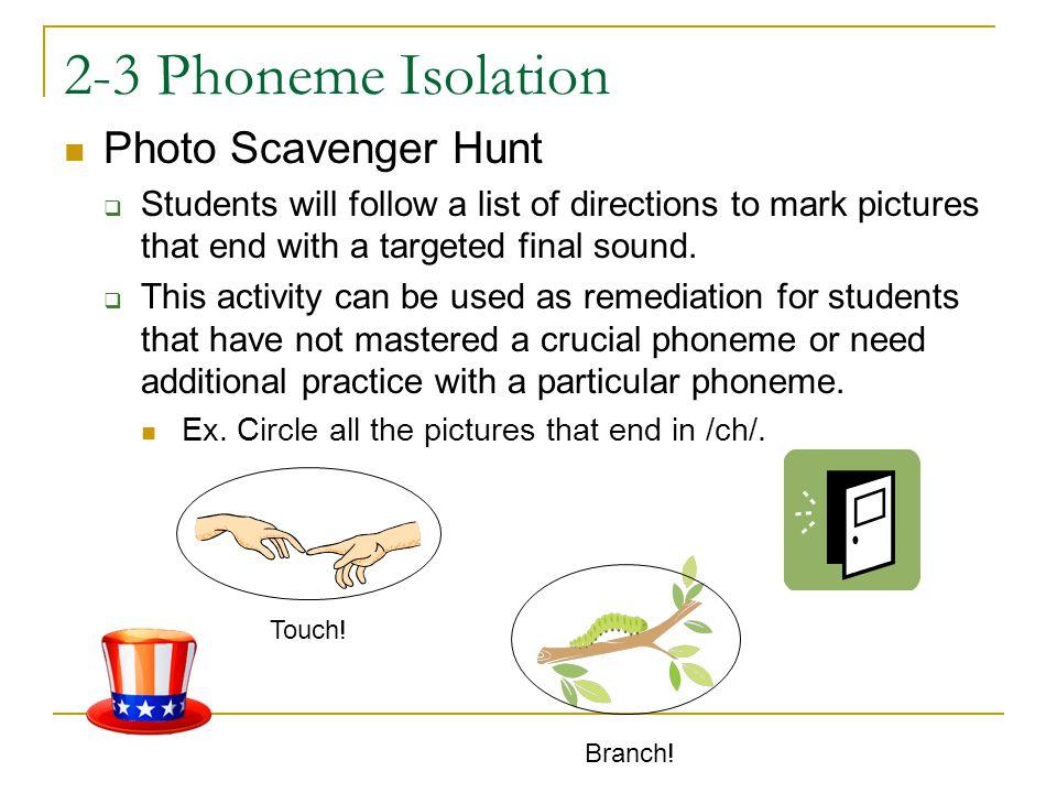 2-3 Phoneme Isolation Photo Scavenger Hunt