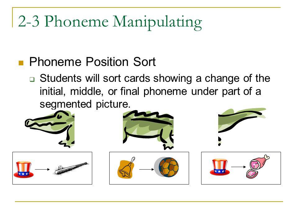 2-3 Phoneme Manipulating