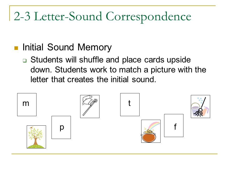 2-3 Letter-Sound Correspondence