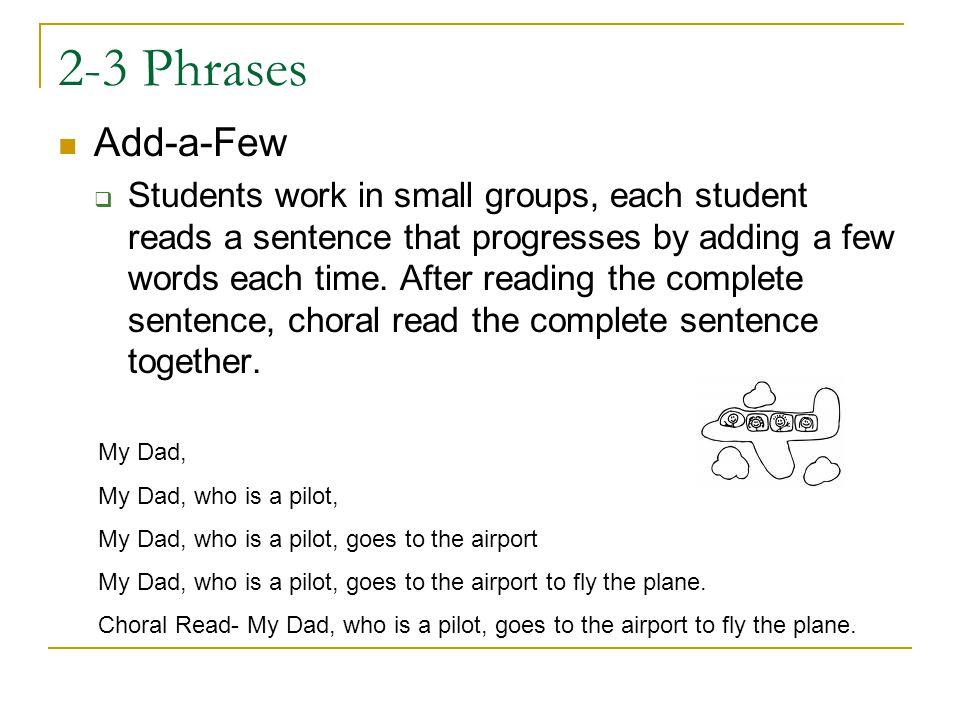 2-3 Phrases Add-a-Few.