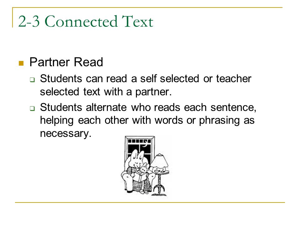 2-3 Connected Text Partner Read
