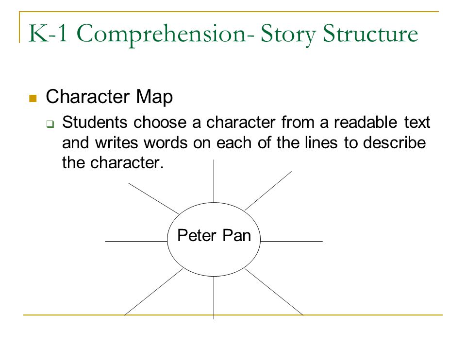 K-1 Comprehension- Story Structure