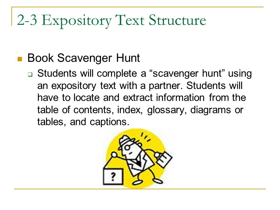 2-3 Expository Text Structure